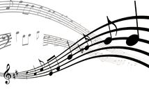 Flache Ikone der Musikanmerkungen, -liedes, -melodie oder -melodie für musikalische apps und Website lizenzfreie abbildung