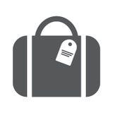 Flache Ikone der Tasche für das Reisen Lizenzfreie Stockfotos