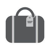 Flache Ikone der Tasche für das Reisen Stockbild