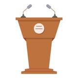 Flache Ikone der Tribüne oder des Podiums Lizenzfreies Stockfoto