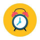 Flache Ikone der Uhr lizenzfreie abbildung