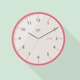 Flache Ikone der Uhr Stoppuhr als Erdkugel auf einem weißen Hintergrund Lizenzfreie Stockfotografie