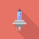 Flache Ikone der Xenonauto-Lampe Stockfotos