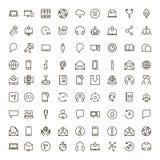 Flache Ikone des Chats lizenzfreie stockbilder