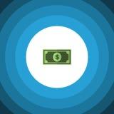 Flache Ikone des Dollars Dollar-Vektor-Element kann für Dollar, Geld, Dollar-Konzept des Entwurfes benutzt werden stock abbildung