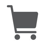 Flache Ikone des Einkaufsdiagramms Lizenzfreie Stockfotografie