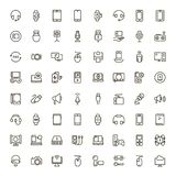 Flache Ikone des Gerätes lizenzfreies stockbild
