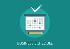 Flache Ikone des Geschäftszeitplan-Konzeptes Stockfotografie