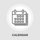 Flache Ikone des Kalenders lizenzfreie stockfotografie