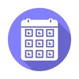 Flache Ikone des Kalenders Lizenzfreies Stockbild