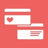 Flache Ikone des Kreditkartebilddagramms Lizenzfreie Stockfotos