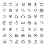 Flache Ikone des on-line-Marktes Stockbilder
