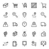 Flache Ikone des on-line-Marktes Lizenzfreies Stockbild