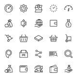 Flache Ikone des on-line-Marktes Lizenzfreie Stockbilder