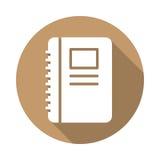 Flache Ikone des Notizbuches Stockbilder
