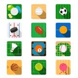 Flache Ikone des Sports Stockbilder