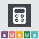 Flache Ikone des Taschenrechners. Lizenzfreies Stockfoto