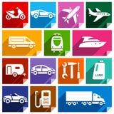 Flache Ikone des Transportes, helles color-09 Lizenzfreie Stockbilder
