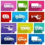 Flache Ikone des Transportes, helles color-03 Lizenzfreie Stockfotografie