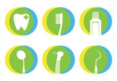 Flache Ikone des Zahnarztkonzeptes zeichen Lizenzfreie Stockfotos