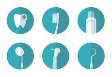 Flache Ikone des Zahnarztkonzeptes zeichen Lizenzfreies Stockbild