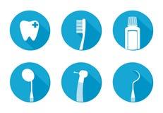 Flache Ikone des Zahnarztkonzeptes zeichen Lizenzfreie Stockbilder