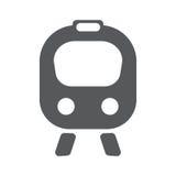 Flache Ikone des Zugs Stockbilder