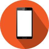 Flache Ikone und Technologie Smartphones Stockfoto