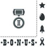 Flache Ikone von Plätzen der Medaille 2 Lizenzfreies Stockfoto
