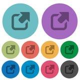 Flache Ikonen des Farbexports Lizenzfreie Stockbilder