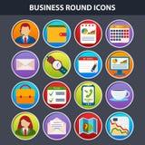 Flache Ikonen für Netz und bewegliche APP Lizenzfreie Stockfotos