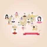 Flache Ikonen für Social Media Lizenzfreie Stockfotos