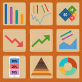 Flache Ikonen Infographic Lizenzfreies Stockbild