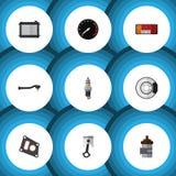 Flache Ikonen-Teile eingestellt von Conrod Lizenzfreies Stockfoto