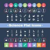 Flache Ikonenwissenschaft Stockfoto