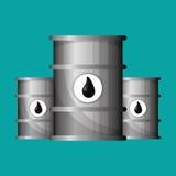 Flache Illustration über Ölpreis-, Erdöl- und Gaskonzepte Lizenzfreies Stockfoto