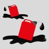 Flache Illustration über Ölpreis-, Erdöl- und Gaskonzepte Stockfoto