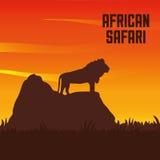 Flache Illustration über Afrika-Design Stockbild