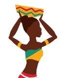 Flache Illustration über Afrika-Design Lizenzfreies Stockfoto