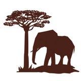 Flache Illustration über Afrika-Design Stockfotos