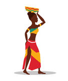 Flache Illustration über Afrika-Design Lizenzfreies Stockbild