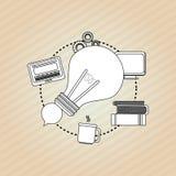 Flache Illustration über Ideendesign Lizenzfreie Stockfotos