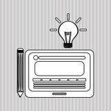Flache Illustration über Ideendesign Lizenzfreie Stockbilder