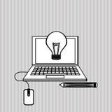 Flache Illustration über Ideendesign Lizenzfreies Stockbild