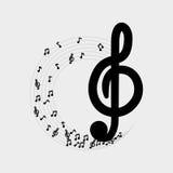 Flache Illustration über Musikdesign Lizenzfreies Stockfoto