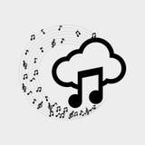 Flache Illustration über Musikdesign Stockfotografie