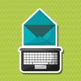 Flache Illustration über Technologiedesign Stockfoto