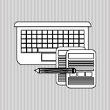 Flache Illustration über Technologiedesign Lizenzfreie Stockfotos