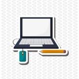Flache Illustration über Technologiedesign Lizenzfreie Stockbilder