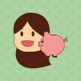 Flache Illustration über Wirtschaftler entwerfen, vector Karikatur Stockfotografie